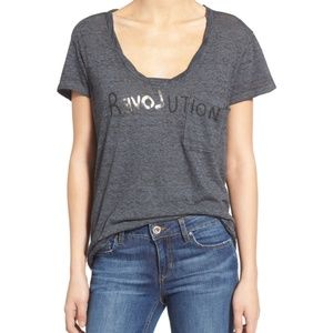 Pam & Gela Revolution Sophie Gray Short Sleeve T